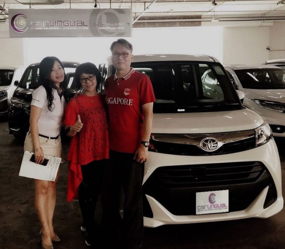 Carlingual Satisfied White Toyota Car Buyer