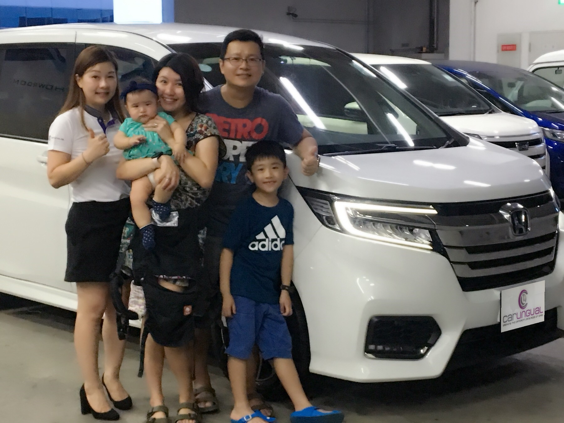 Carlingual Satisfied White Honda Car Buyer